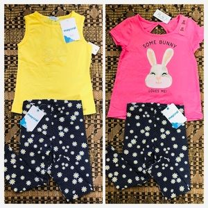 (3) NWT The Children's Place Mayoral Daisy Bunny